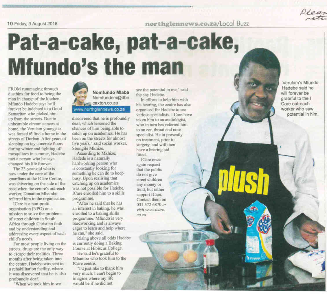 Mfundo: from hard of hearing street child to Baker